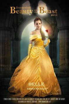 FAN ART!!!! I DID NOT MAKE THIS!!! I AM ONLY REPINNING!!! Emma Watson as Belle from the new live action film of Disney's Beauty and the Beast.