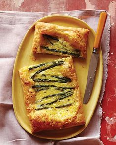 Asparagus & Cheese Tarts with Honey These tarts make such a great lunch or picnic food, as they can be served hot or cold.