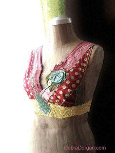 Carnivale Top, Disco, Crop, Vintage Fabrics. By Debra Dorgan (allthingspretty) Australia