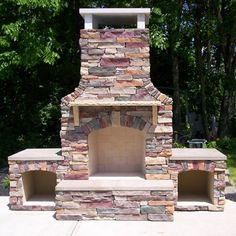 Stunning outdoor fireplace with mantel shelves wood storage - Outside Fireplaces On Pinterest Outside Fireplace