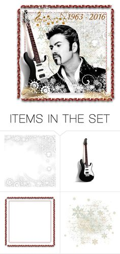 """George Michael"" by taming-kate ❤ liked on Polyvore featuring art"