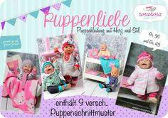Ebook Puppenliebe ♥ 9 Schnittmuster für Puppen in 2 Größen - rosarosa