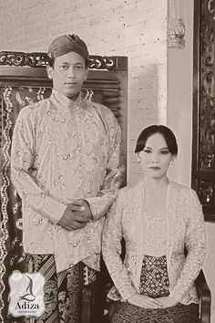 Old Javanese outfit #Indonesian wedding
