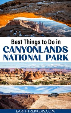 Best things to do in Canyonlands National Park: Island in the Sky, The Needles, the Maze, and the Green and Colorado Rivers. Drive the White Rim Road, visit Mesa Arch, hike to Chesler Park, and more. Includes the best hikes and best viewpoints in Canyonlands National Park.