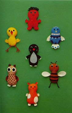 Make these adorable felt creatures for the 2-4 age groups!