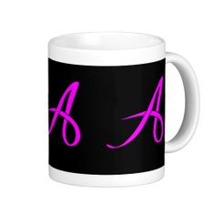 SOLD!!!  to a customer on Long Island.  #Letter A #ribbon #Mug.  Thank You :)