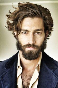 (interesting hair and scruffy beard)