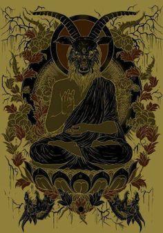 Baphomet Interpretation by artist Seth Siro Anton. MASTODON album cover