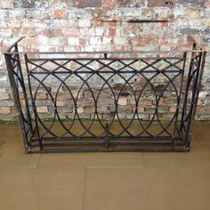 Antique wrought iron Juliet balcony for sale on SalvoWEB from Architectural Forum in London [Salvo code