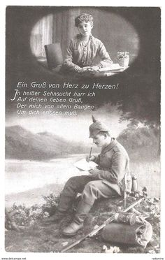 """Alt Ansichtskarte """"Ein Gruß von Herz zu Herzen!"""" Deutschland."""