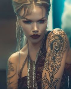 Tattooed model Kat Livingston