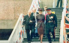 April 23 1986 Diana opens Rosegrove Station in Burnley, Lancashire  Charles & Diana attends the West Lancashire Means Business Exhibition in Skelmersdale, Lancashire