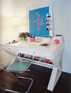 White X Leg Desk (like World Market Josephine) For Office