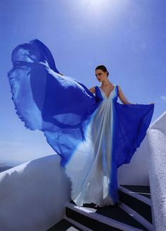 Lina Navickaite by Akiss Paraskevopoulos for Madame Figaro Greece Editorial: Big Blue Source: thecysight Love Blue, Blue And White, Blue Gold, Le Grand Bleu, Blues, Fred Astaire, Flowing Dresses, Daughters Of The King, Glamour