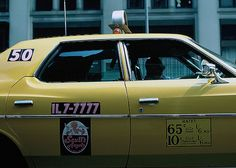 NYC taxi cab/ 1974