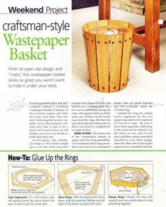#718 Craftsman-Style Wastepaper Basket - Other Woodworking Plans and Projects