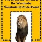 The Lion, the Witch, and the Wardrobe Vocabulary Powerpoint