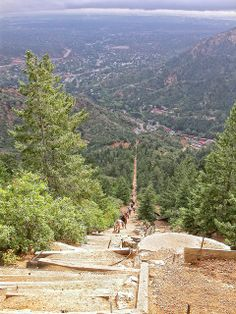 Colorado Springs, CO - the Manitou Incline!! I've hiked it many times :)