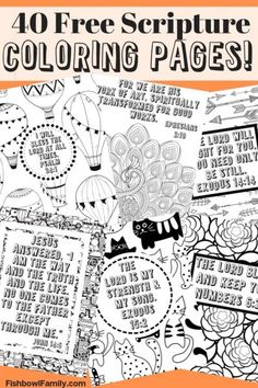 40 FREE scripture coloring pages! These scripture filled coloring pages are perfect for the person in your life that loves to color. They come in a PDF so that you can print them as many times as you want. Scripture Cards, Bible Verses, Scriptures, Bible Journaling For Beginners, Sermon Notes, Bible Activities, Free Bible, Coloring Pages, Coloring Sheets