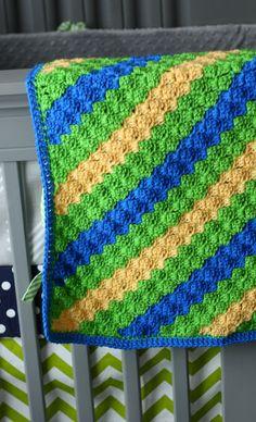 Cute c2c baby blanket!