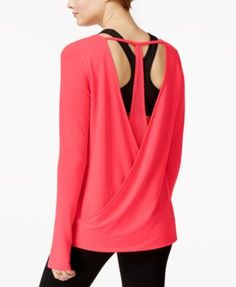 Jessica Simpson The Warm Up Draped Surplice T-Back Top, Only at Macy's