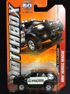 2014 Matchbox - MBX Heroic Rescue - 2013 Ford Explorer - Very HtF POLICE