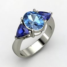 The Sophia Ring #customizable #jewelry #topaz #sapphire #silver #ring