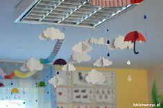Lubię Tworzyć: Papierowe chmurki 3D - jesienne dekoracje do zawieszenia