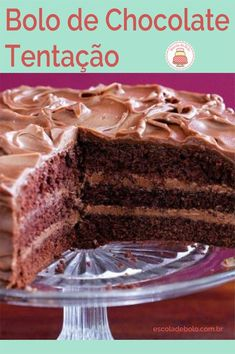 Caia em tentação, com esta receita maravilhosa de bolo de chocolate #bolocaseiro #bolodechocolate #aprendaonline #aulaonline