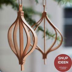 Hjemmelavet DIY julepynt med læder bånd eller kraftig filt