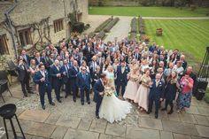 The wedding party outside Notley Abbey #BijouRealWedding #NotleyAbbey