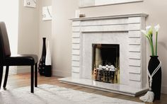 The Paris is shown in premium Bianco Persiano marble.