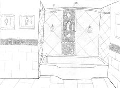 Shower Area Option #2 sketch