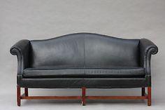 Vintage Chippendalemöbel Style Leder Camelback Sofa Hollywood Regency Modern Ebay