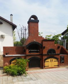 Barbecue Design 2020 – Can you use normal bricks for a BBQ - Home Ideas Barbecue Design, Backyard Fireplace, Pergola, Bbq, House Design, Canning, Outdoor, Interior, Creative Things