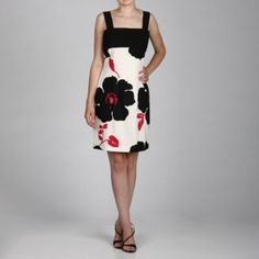 @Overstock - A stylish black and pink floral pattern with a detailed bodice creates this dress from Jessica Howard. Fully lined, this sleeveless dress features a flattering empire waist and square neckline.http://www.overstock.com/Clothing-Shoes/Jessica-Howard-Womens-Black-Pink-Floral-Bodice-Detail-Dress/6089959/product.html?CID=214117 $38.99