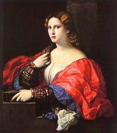 Portrait of a Woman La Bella canvas  - Palma, Vecchio