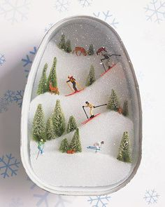 Ham Can Ski Slopes ~ DIY tutorial... so cute and do-able!
