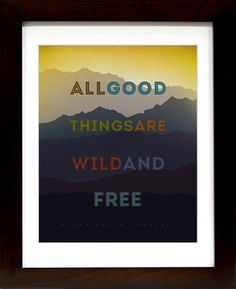 Henry+David+Thoreau+++All+good+things+are+by+thestudioonrobinlane,+$17.00