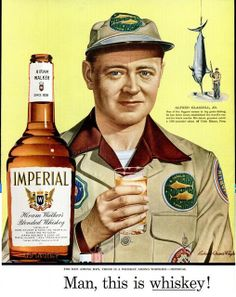 """Hiram Walker Imperial Whiskey (1955) """"Man, this is whiskey"""""""