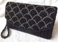 Vintage ilda di vico heavily beaded black #evening #cocktail clutch #purse art de,  View more on the LINK: 	http://www.zeppy.io/product/gb/2/401260705832/