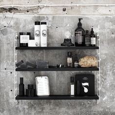 String Plex Pocket shelf, black ash – String #interior #design #scandinavian