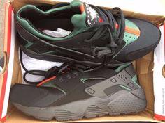 bf70111a60cfa Nike Air Huarache Nike Runner Men s Shoes Green Black size 9uk nike huarache