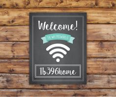 Welcome Your Guests and Offer them Your Wifi by TallPineDesign