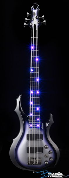 This Bass is cool.  Esp f-415 Bass with purple led #fivestringbass #bass #fivestring #guitars #basses #instruments #music
