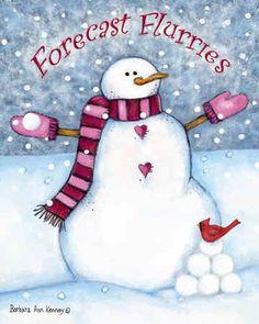 Snowmen forecast flurries