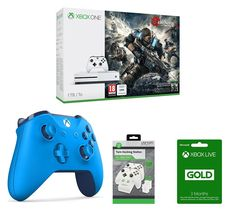 ION MICROSOFT  Xbox One S, Gears of War 4, Controller, Docking Station & 3 Month Xbox LIVE Gold Membership Bundle, Gold Price: £ 289.99 You'll have everything you need to enjoy great gaming with the Microsoft Xbox One S, Gears of War 4, Controller, Docking Station & 3 Month Xbox LIVE Gold Membership Bundle . _____________________________________________________________ Microsoft Xbox One S...