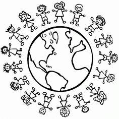World Thinking Day mandala coloring page Colouring Pages, Coloring Pages For Kids, Coloring Sheets, Hand Coloring, Coloring Books, Mandala Coloring, Free Coloring, Around The World Theme, Kids Around The World