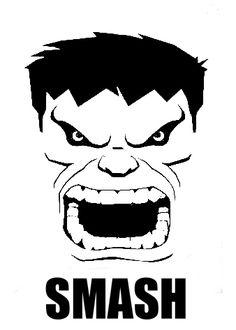 Hulk Face Stencil