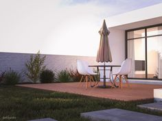 Exterior Design, Interior And Exterior, Different Types Of Grass, Minimalist Design, Modern Design, Sunny Images, Small Swimming Pools, Wooden Decks, Villa Design
